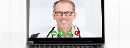 Videoconferencing With Doctor On Laptop